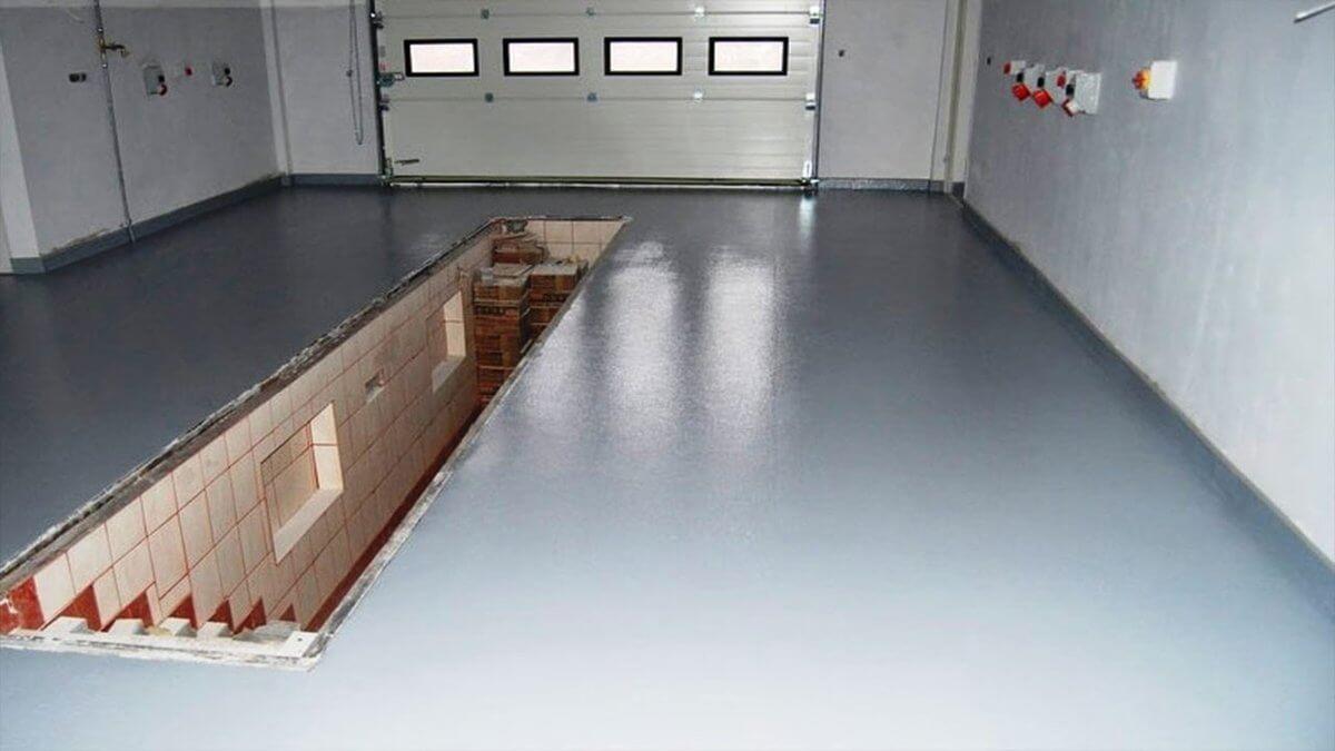 бетонирование пола в гараже